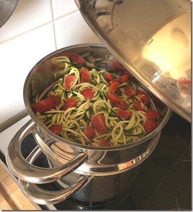 Spaghettis de courgettes au vitaliseur