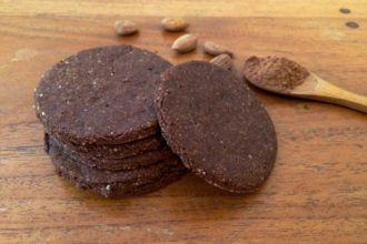 Sablés amande chocolat vegan et sans gluten