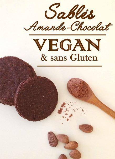 Sablés Amande-Chocolat Vegan & sans Gluten